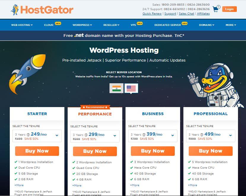 Hostgator-wordpress-hosting-india