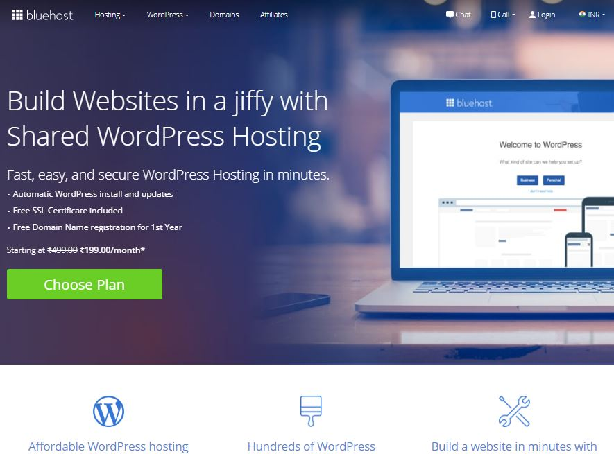 Bluehost-india-wordpress