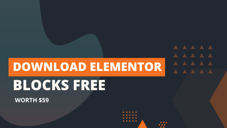 Free Elementor Blocks – Especially for Bloggers & Affiliate Marketers