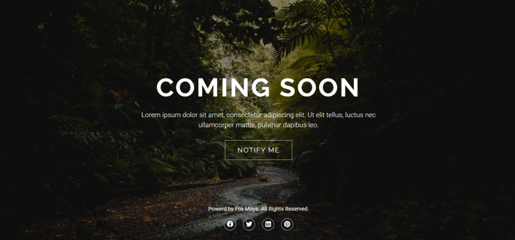 coming soon elementor template 2